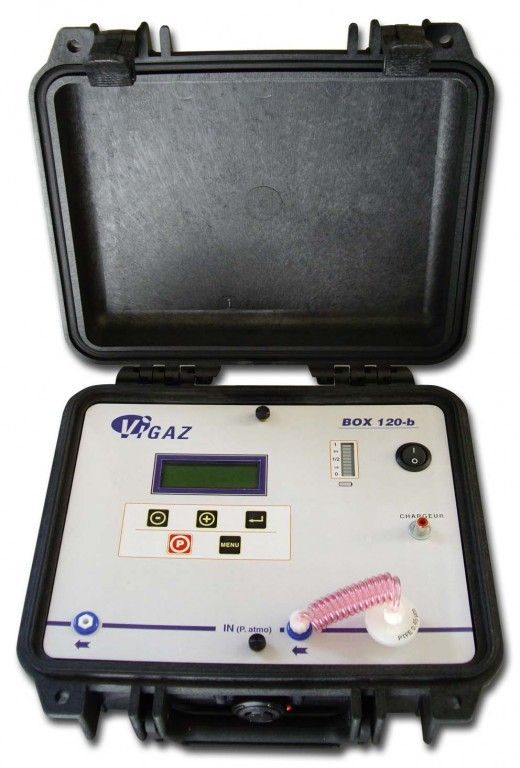 ANALYSEUR O2+CO2 SUR SITE, BOX 120-B, VALISE ROBUSTE, 12V
