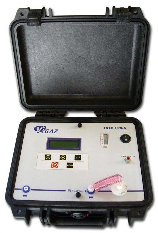 ANALYSEUR O2+CO2 SUR SITE, BOX 120-B, VALISE ROBUSTE, 12V