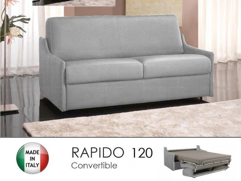canap lit 2 3 places luna convertible ouverture rapido 120cm microfibre gris silex comparer. Black Bedroom Furniture Sets. Home Design Ideas