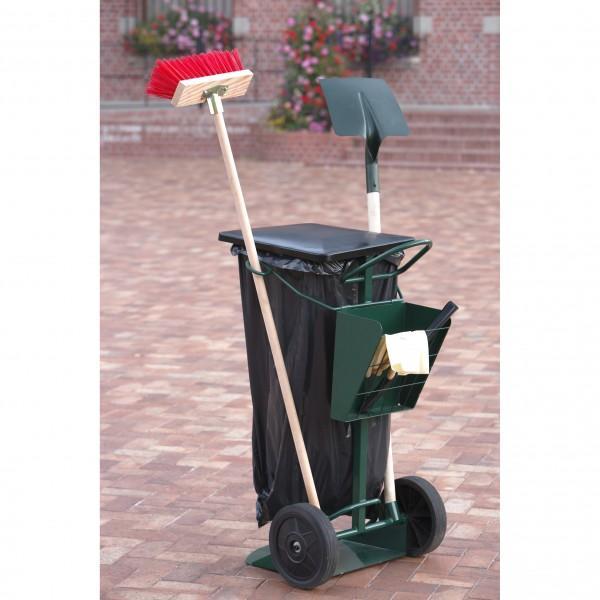 Chariot porte sacs tous les fournisseurs chariot pour for Poubelle exterieur roulette