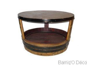 Ronde Basse Table Massif Table Chêne Basse CrsQtBhdx