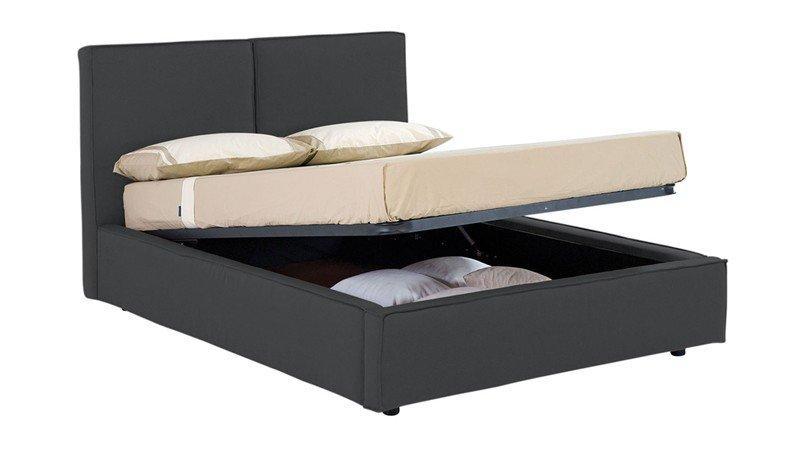 lit coffre design squadra beige couchage 2 personnes 140 200cm. Black Bedroom Furniture Sets. Home Design Ideas