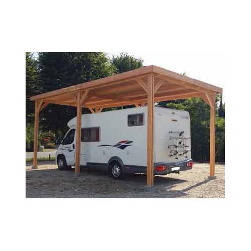 abri camping car toit plat realise en bois douglas. Black Bedroom Furniture Sets. Home Design Ideas