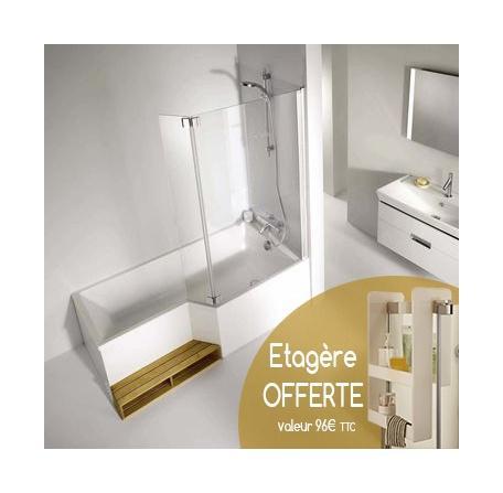 ensemble baignoire neo 170 x 70 90 cm jacob delafon. Black Bedroom Furniture Sets. Home Design Ideas