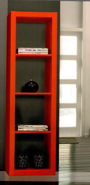 gloss bibliotheque etageres laquees rouge design petit modele. Black Bedroom Furniture Sets. Home Design Ideas