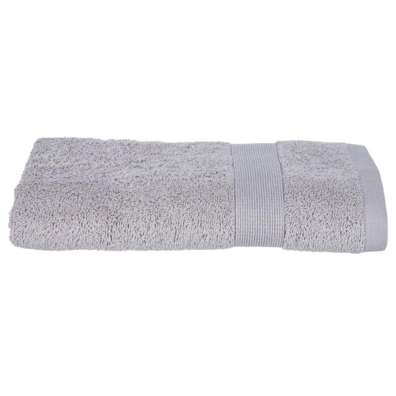 Serviette de toilette confort 50x90cm taupe - paris prix