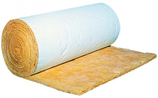 Isolants en genie climatique feutre tendu alu blanc for Laine de verre sans pare vapeur