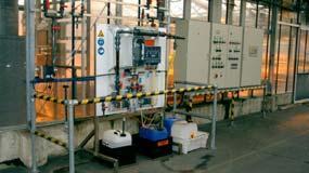 Installation au dioxyde de chlore pour le traitement de l'eau