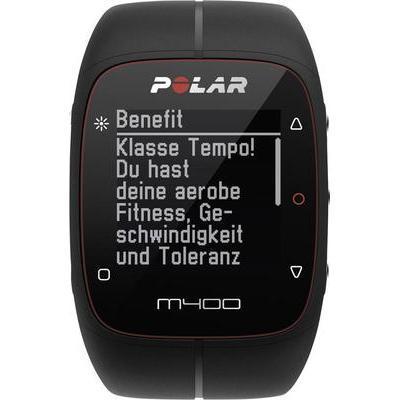 MONTRE CARDIO GPS AVEC CEINTURE PECTORALE POLAR M400 HR BLACK BLUETOOTH NOIR
