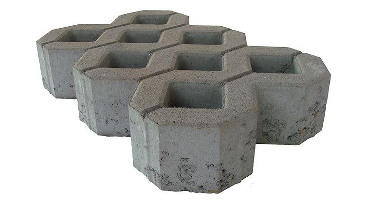 Dalle de parking ecovegetal roc | en béton - 3 couleurs disponibles: gris béton, anthracite, terracotta - 600 mm x 400 mm - epaisseur 80 mm et 120 mm