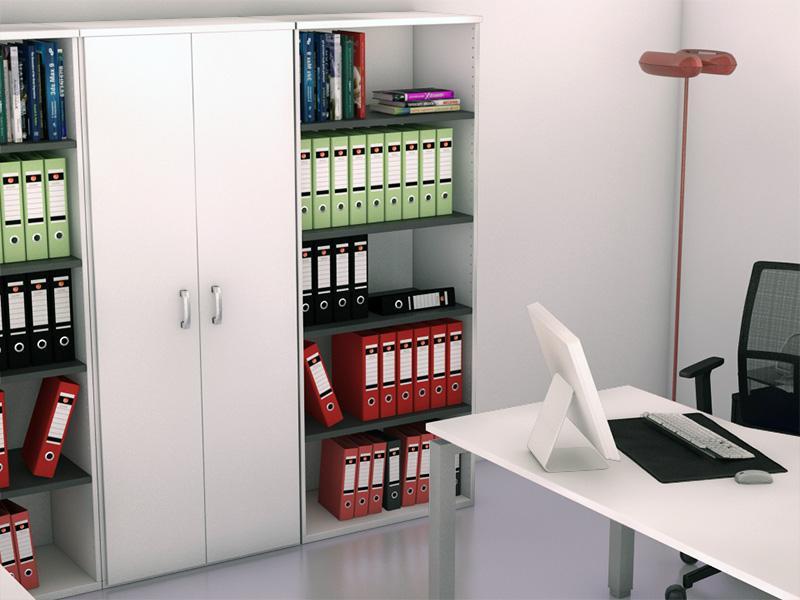 armoire haute ouverte bicolore l80 p45 h197 236 comparer les prix de armoire haute ouverte. Black Bedroom Furniture Sets. Home Design Ideas