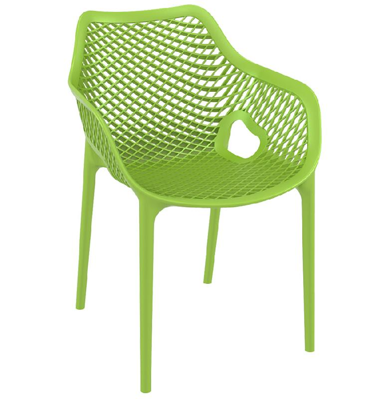 Chaise de jardin terrasse 39 sister 39 verte en mati re for Chaise de jardin verte