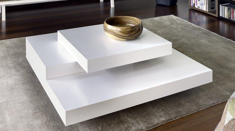 Temahome slate table basse design blanc mate - Table basse luxe design ...