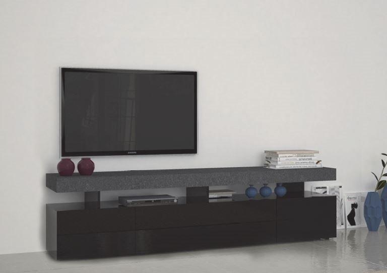 Meuble tv5 design treviso effet marbre avec 4 tiroirs for Les meubles a tiroirs plats
