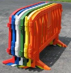 barriere plastique pieds emboitables
