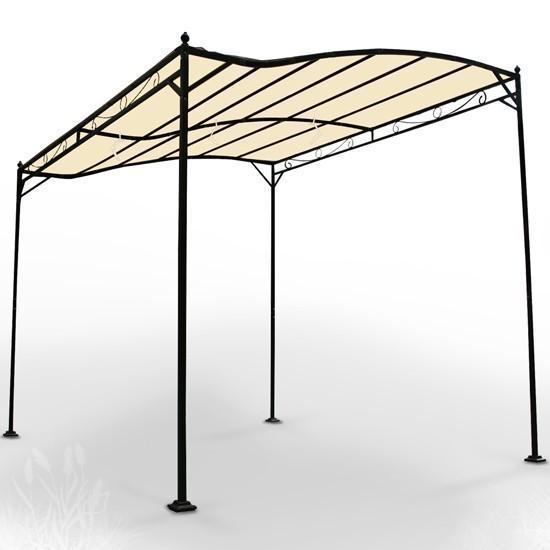 Abri de voiture tonnelle barnum pavillon de jardin métal beige 2201005