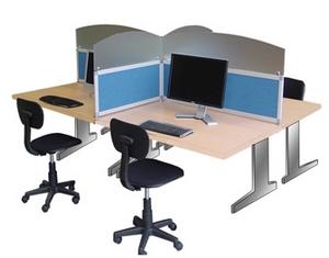 Cloisons de bureaux et cloisonnette kalm acoustique pour plateau