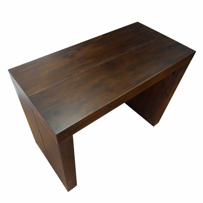 Console extensible sublimo wenge 12 couverts bois massif for Table extensible 18 couverts