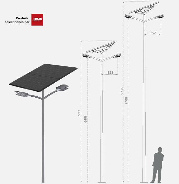 fonroche energies renouvelables produits lampadaire d. Black Bedroom Furniture Sets. Home Design Ideas