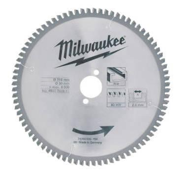 MILWAUKEE - LAME SCIE RADIALE BOIS/ALU 216MM 80 DENTS - 4932352841