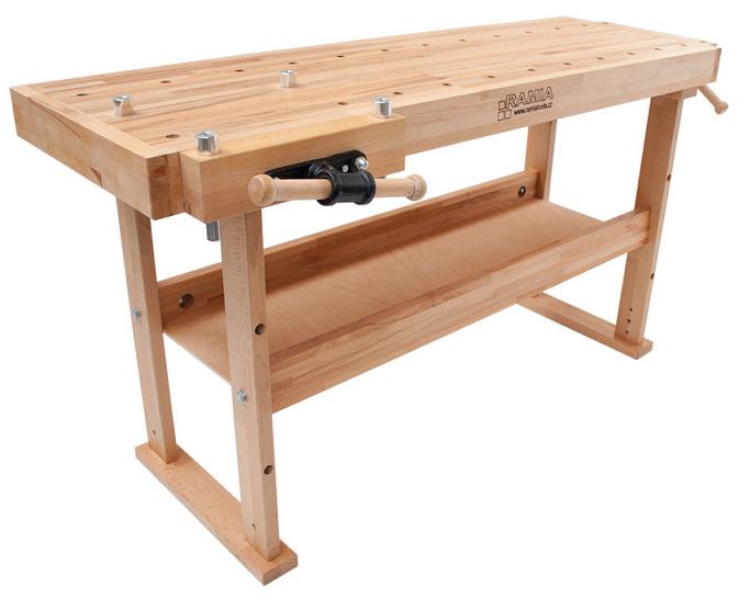 Holzprofi etabli bois de menuisier 1750mm h tre lamell et1700e - Construction etabli en bois ...
