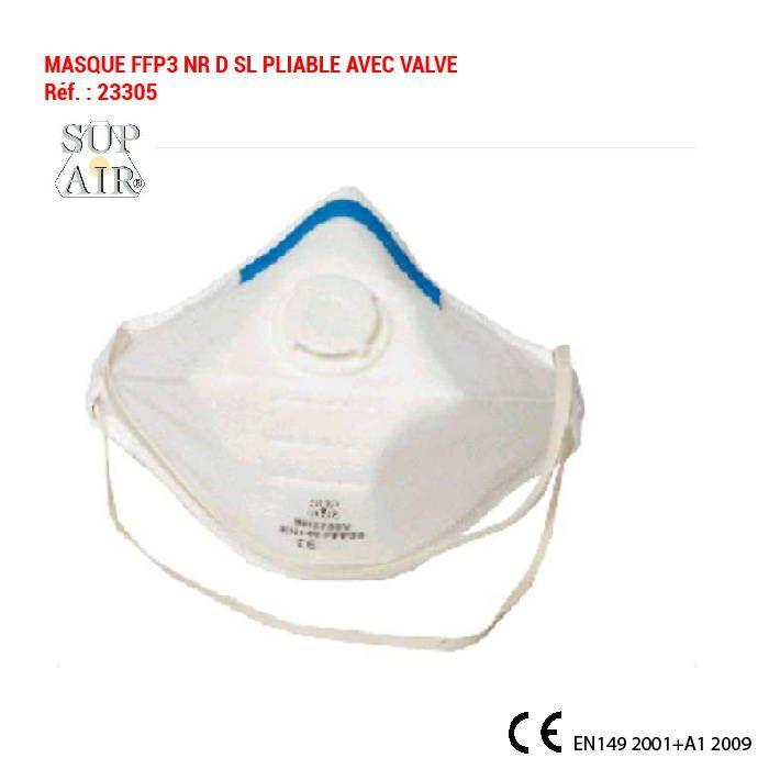 Masque de protection ffp3 contre l'inhalation d'agents infectieux