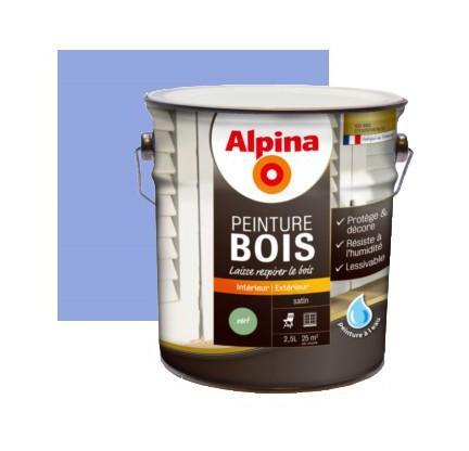 PEINTURE BOIS MICROPOREUSE 2,5L | BLEU LAVANDE - ALPINA