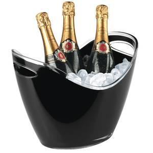 seau a vin champagne ovale materiau acrylique polystyrene 35 0 cm x 27 0 cm x 25 5 cm noir. Black Bedroom Furniture Sets. Home Design Ideas