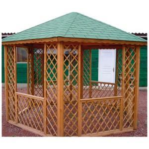 gloriette hexagonale traitee autoclave gl h38 surface. Black Bedroom Furniture Sets. Home Design Ideas