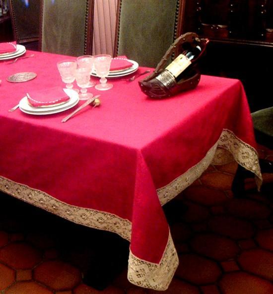 nappe rectangulaire le souper du pere noel. Black Bedroom Furniture Sets. Home Design Ideas