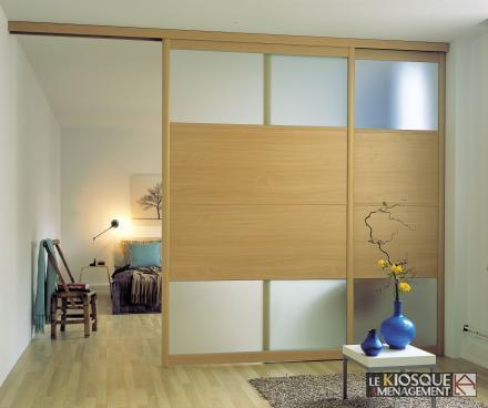 cloison coulissante mixte verre et bois. Black Bedroom Furniture Sets. Home Design Ideas