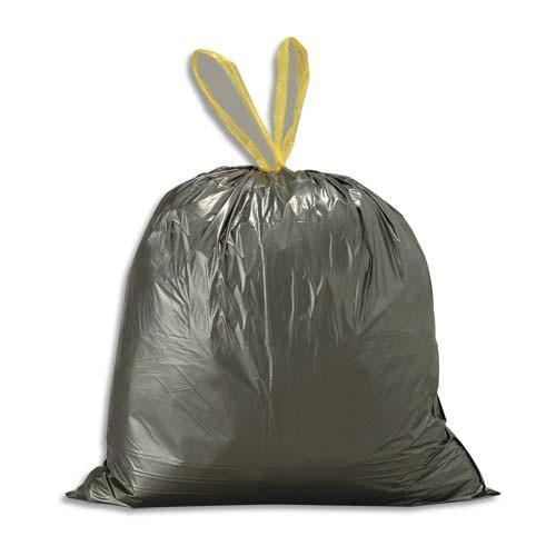 sacs poubelles bo te de 500 sacs poubelles noirs 50 litres avec liens coulissants 28 microns. Black Bedroom Furniture Sets. Home Design Ideas