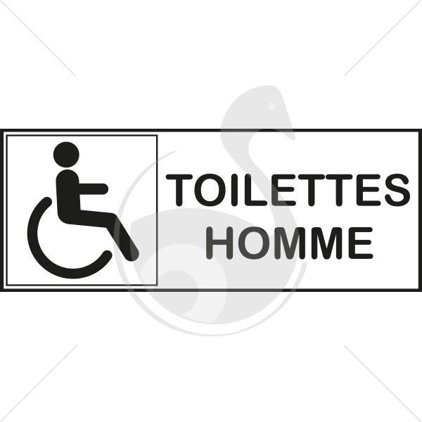 autocollant toilettes handicapes pour homme. Black Bedroom Furniture Sets. Home Design Ideas