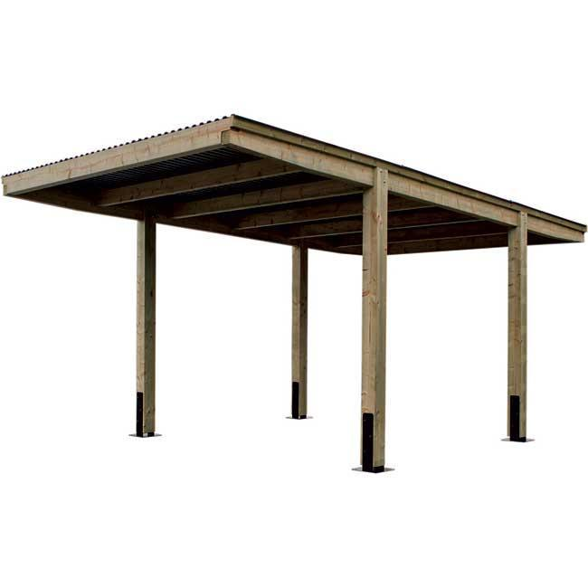 CARPORT BOIS MULTI-USAGES