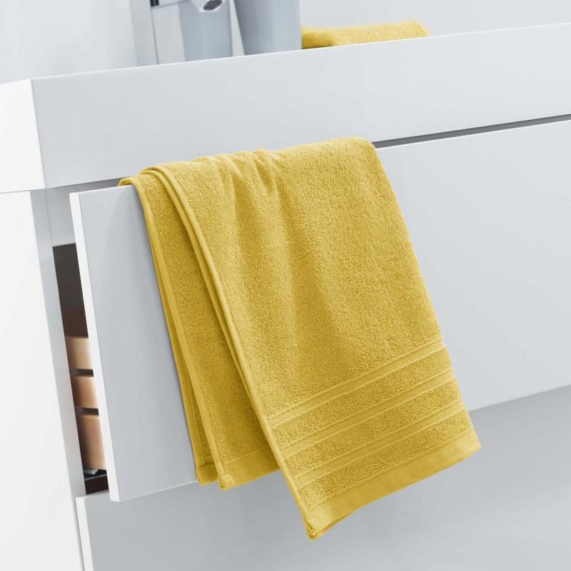 Serviette de toilette vitamine 50x90cm miel - paris prix