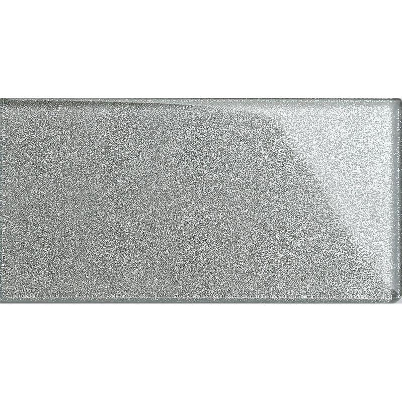 75mm x 150mm MT0117 Carrelage en verre Motif Metro brique Gris couleurs feuille support en aluminium la surface