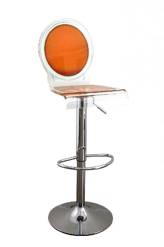 tabouret chaise de bar sixteen orange plexiglass acrila. Black Bedroom Furniture Sets. Home Design Ideas