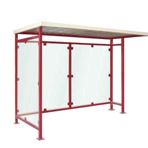 Abri bus andria / structure en acier / bardage en polycarbonate alvéolaire / 150 cm