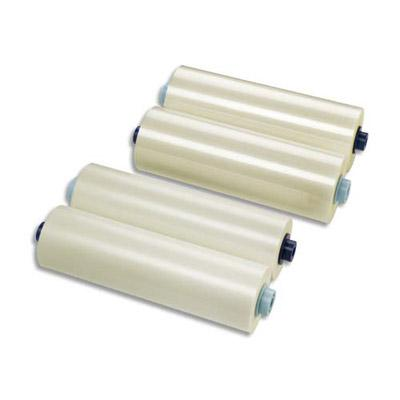 LOT DE 2 ROULEAUX DE FILM DE PLASTIFICATION GBC EZLOAD POUR AUTO ULTIMA - BRILLANT - 125 MICRONS - 305 MM X 60 M