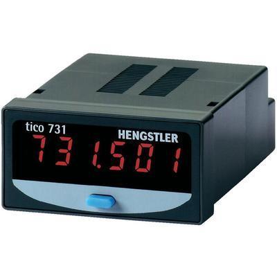 COMPTEUR D'IMPULSIONS ET HORAIRE ÉCRAN LCD 8 CHIFFRES 12-24 V/DC HENGSTLER TICO 731
