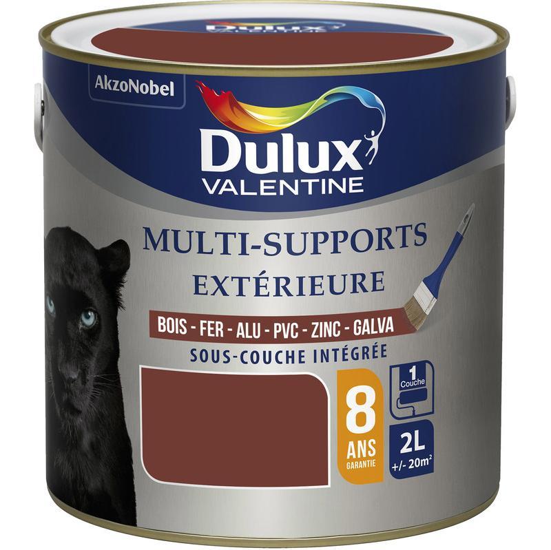 PEINTURE MULTI-SUPPORTS EXTÉRIEURE 2L DULUX VALENTINE ACRYLIQUE (TON BOIS) - COULEUR : TON BOIS