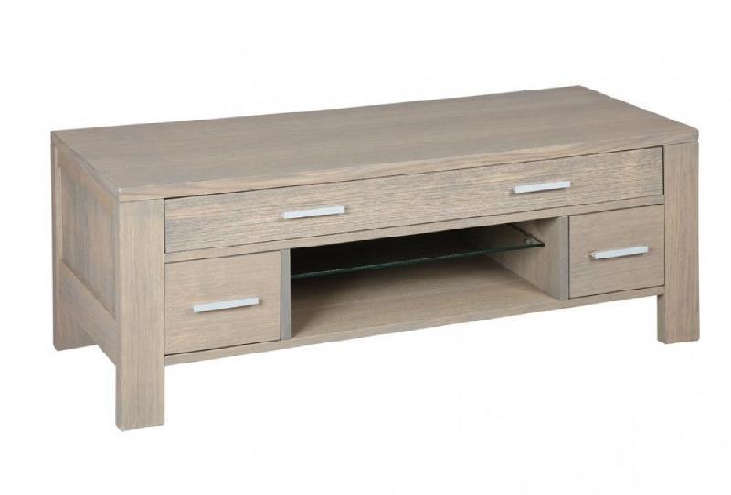 meuble tv hans en ch ne massif gris taupe comparer les prix de meuble tv hans en ch ne massif. Black Bedroom Furniture Sets. Home Design Ideas
