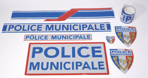Serigraphie police municipale vl  homologuee