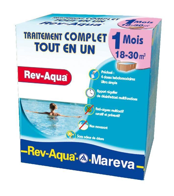 TRAITEMENT PISCINE MENSUEL COMPLET REV-AQUA 18/30 M3 MAREVA 140001