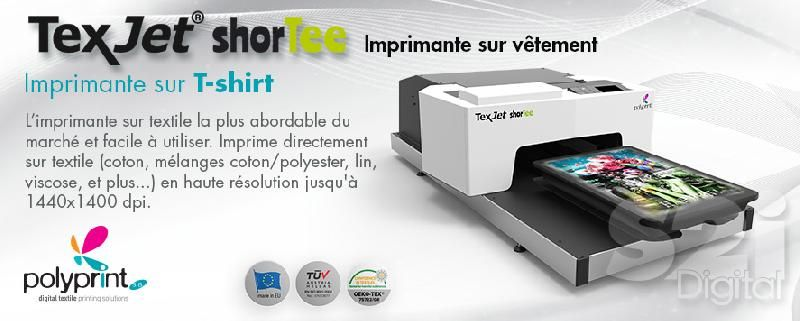 Imprimante t shirt polyprint texjet shortee