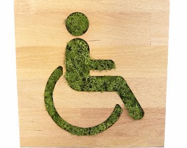 Signalétique végétale accès handicapes