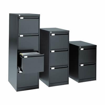 classeur tiroirs 4 tiroirs format foolscape hauteur 132 4 cm anthracite. Black Bedroom Furniture Sets. Home Design Ideas