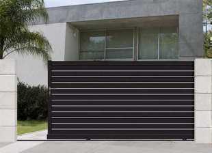 portail coulissant droit marly en aluminium haut 1 55m. Black Bedroom Furniture Sets. Home Design Ideas