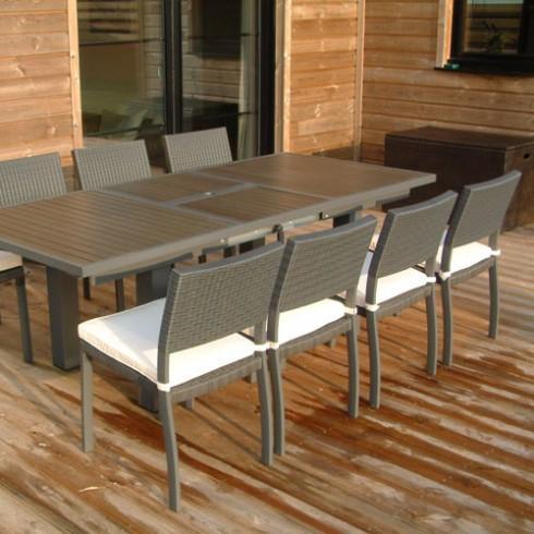 Table d 39 ext rieur comparez les prix pour professionnels sur page 1 - Table jardin aluminium composite ...