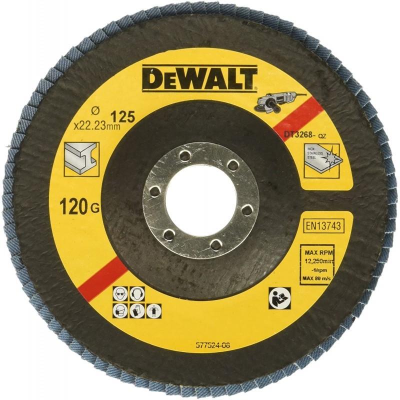 Dewalt dt3268-qz disque a lamelles type 29 grain 120 ø 125mm 22.2